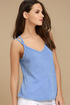RVCA Eslow Washed Blue Tank Top