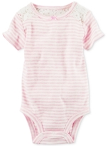 Carter's Striped Lace Bodysuit, Baby Girls (0-24 months)
