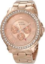 Juicy Couture Women's 1901083 Pedigree Rose-Gold Plated Bracelet Watch