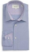 Ted Baker Men's 'Goran' Trim Fit Check Dress Shirt