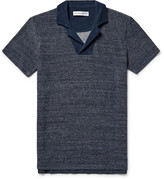 Orlebar Brown - Cedric Slim-fit Mélange Loopback Cotton Polo Shirt