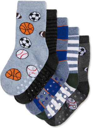 Joe Fresh Toddler Boys' 5 Pack Socks, Blue (Size 1-3)