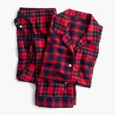 J.Crew Petite mixed plaid flannel pajama set