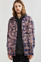 Urban Outfitters Bleached Out Drop Shoulder Flannel Button-Down Shirt