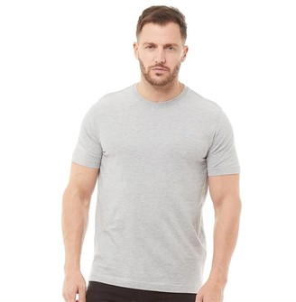 Crew Clothing Mens Round Neck T-Shirt Grey Marl
