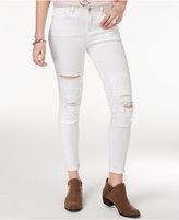 William Rast Ripped White Wash Skinny Jeans