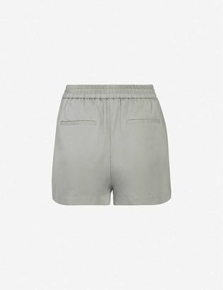 AllSaints Alva elasticated-waist crepe shorts