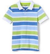 Lands' End Boys Oxford Stripe Mesh Polo-Khaki