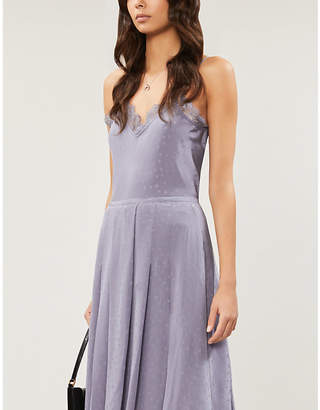 Paige Cicely lace-trimmed silk-crepe camisole