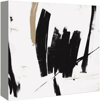 American Flat Americanflat Black And White Abstract By Kasi Minami Canvas Artwork