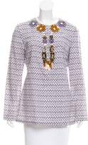 Tory Burch Embellished Print Tunic