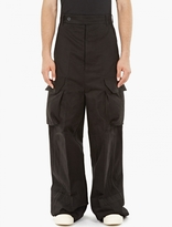 Rick Owens Black Oversized Cargo Trousers