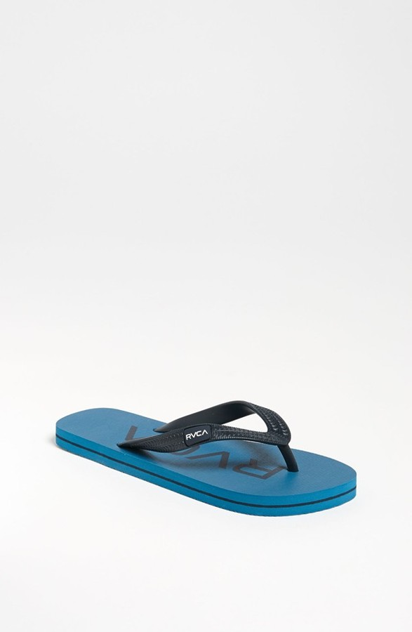 RVCA 'Sandlot' Flip Flop (Little Boys & Big Boys) Ocean Depth 6
