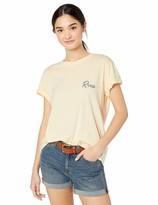 RVCA Womens TROPICALE Short Sleeve Crew Neck T-Shirt