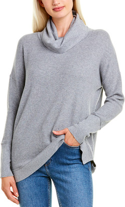 Forte Cashmere Easy Rib Cowl Cashmere-Blend Sweater