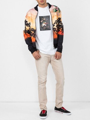 Valentino Palm Tree Print Bomber Jacket