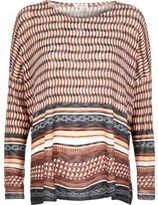 River Island Womens Brown geometric print hanky hem top