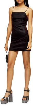 Topshop Two-Tone Square Neck Dress