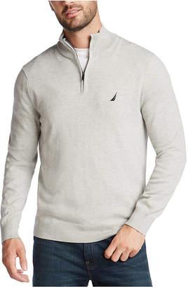 Nautica Men NavTech Quarter-Zip Solid Sweater