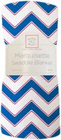 Swaddle Designs Marquisette Chevron Swaddling Blanket - True Blue