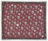 Alexander McQueen Black & Pink Dagger Hearts Skull Scarf