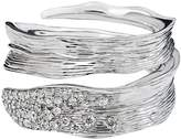 Michael Aram Sterling Silver Palm Bypass Ring with Diamonds