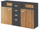 Warner Sideboard Orren Ellis Color (Base/Top): Anthracite/Ribbec Oak