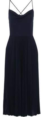 Valentino Open-back Silk Crepe De Chine Midi Slip Dress