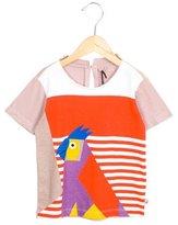 Stella McCartney Girls' Parrot Print Short Sleeve Top