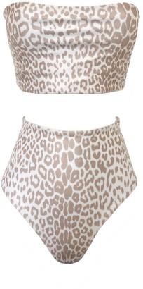Terra Dea Full Bust Loco Acapulco Reversible Bikini Set - Leopard & White
