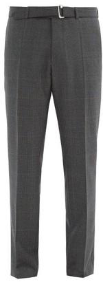Officine Generale Paul Glen-check Wool-fresco Suit Trousers - Grey