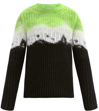 Valentino Jelly Block Tie Dye-intarsia Wool Sweater - Green Multi