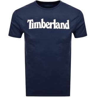 Timberland Logo T Shirt Navy