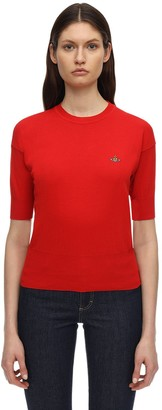 Vivienne Westwood Cotton Knit Short Sleeve Sweater