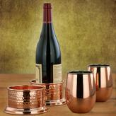 Old Dutch 17 oz. 2PLY Solid Copper/Stainless Steel Stemless Wine Glasses (Set of 2)