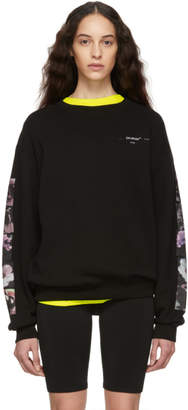 Off-White Off White Black Flowers Pola Long Sweatshirt