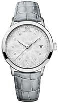 88 Rue du Rhone 87WA140018 Women's Double 8 Origin Mother of Pearl Leather Strap Watch, Grey/Silver