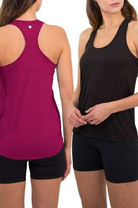 90 Degree By Reflex Racerback Tank Top - Pack of 2