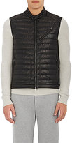 Moncler Men's Theo Down-Quilted Leather Vest