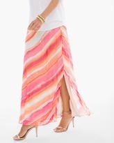 Chico's Sunset Stripe Maxi Skirt
