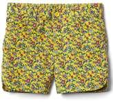 Twill midi shorts