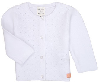 Carrément Beau ERIK girls's Cardigans in White