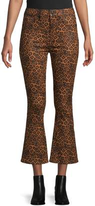 7 For All Mankind Leopard-Print Cropped Pants