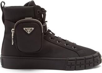 Prada Wheel Zipped-pouch High-top Re-nylon Trainers - Black