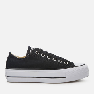 Converse Chuck Taylor All Star Lift Ox Trainers - Black/White/White