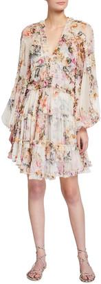 Zimmermann Brighton Billowy Silk Frill Dress
