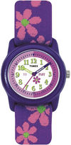 Timex Easy Reader Kids Purple Fabric Strap Watch T890229J
