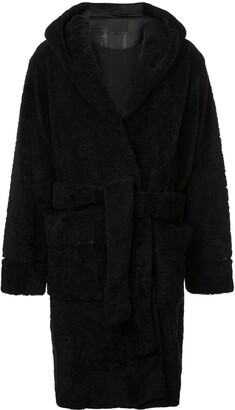 Alexander Wang Fur Robe Coat