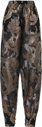 Etro Paisley Fil Coupe Tapered Pants