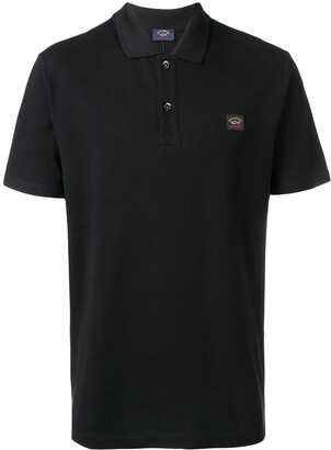 Paul & Shark logo patch polo shirt